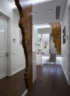 дерево в интерьере квартиры