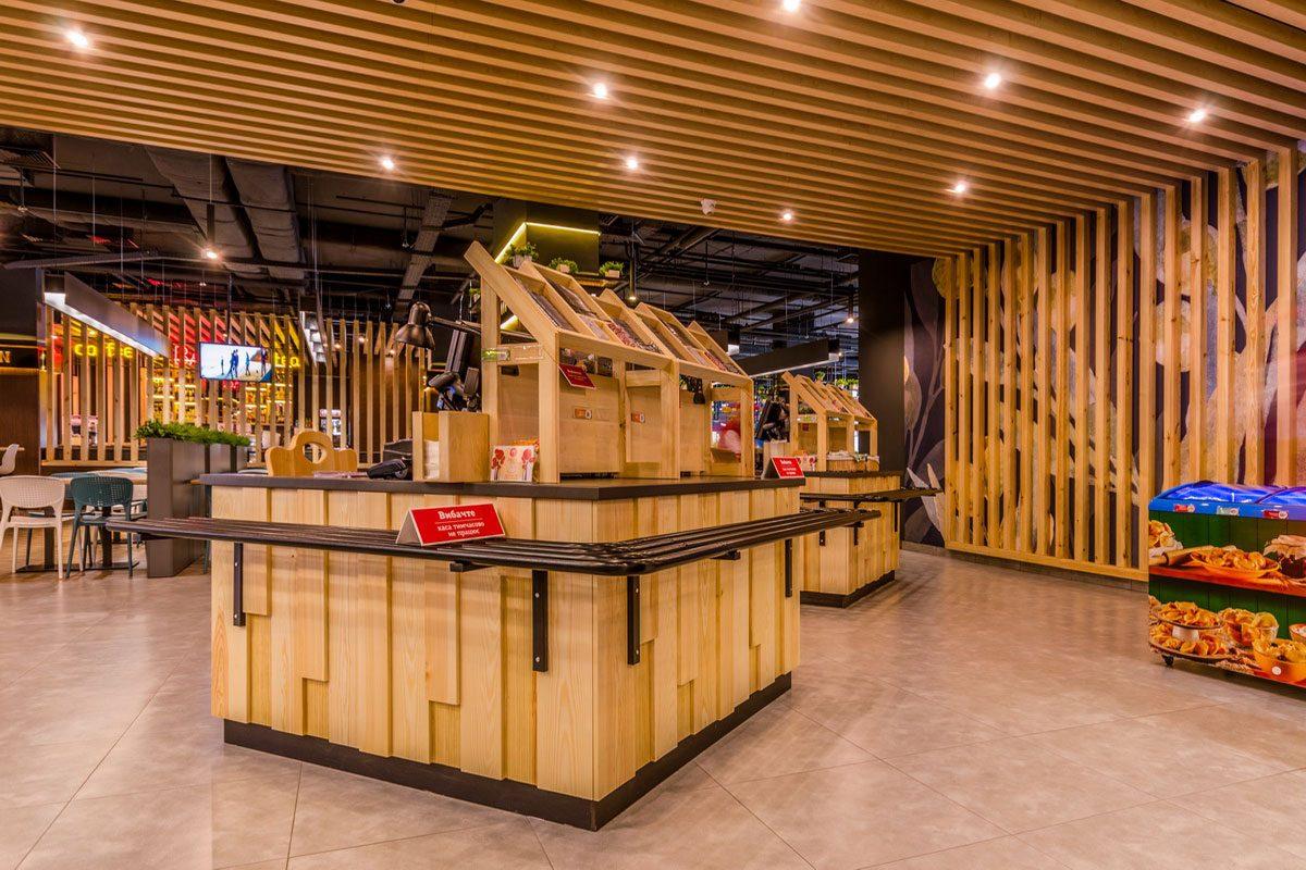 мебель из дерева для ресторана